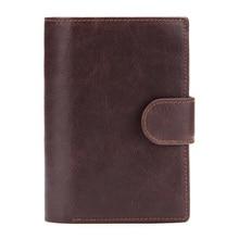 Western Genuine Leather Multifunctional Passport Men Wallet Fashion Large Capacity Purse