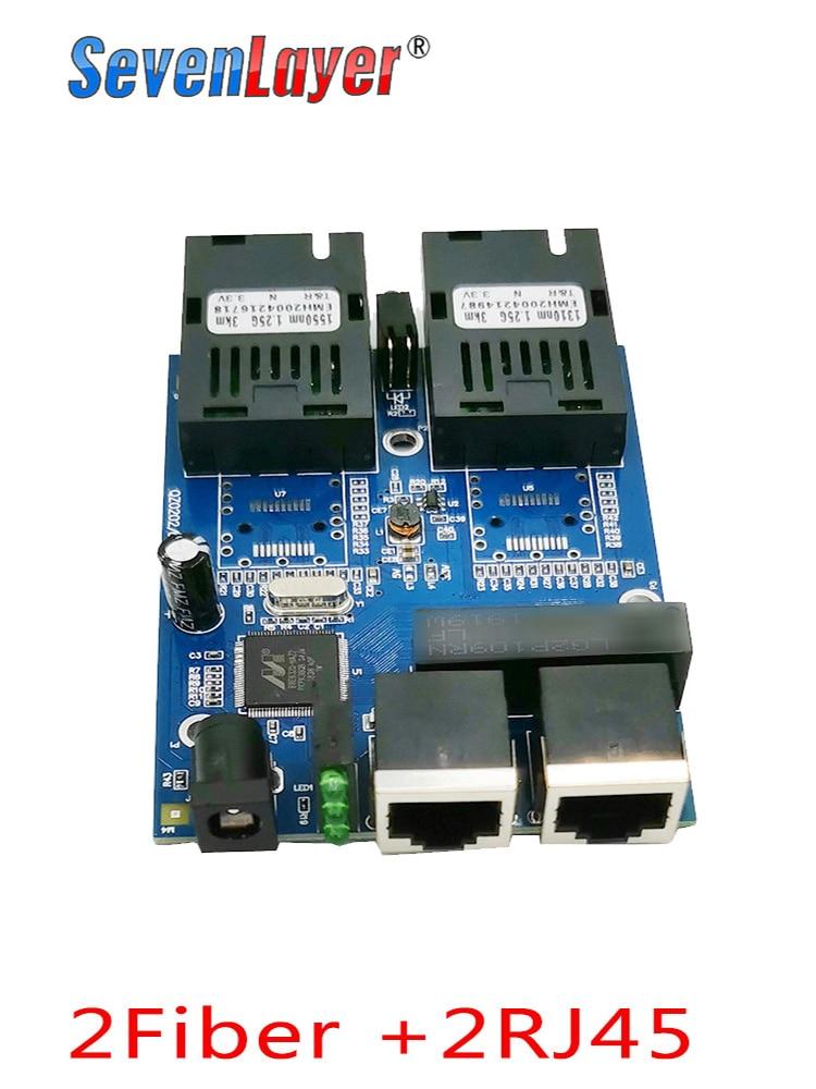 Fiber-Port Ethernet-Switch Gigabit Optical 2-Rj45-Media-Converter 10/100/1000m 2-Sc PCB