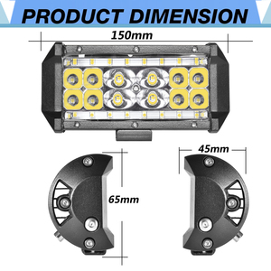 Image 2 - Aeobey 2pcs 5inch 28 led light bar 8400 Lumen Led headlight for off road 4x4 4WD ATV UTV SUV 12V 24V Car light work light bar