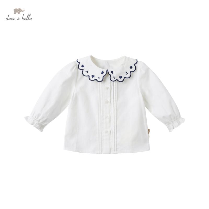 DB16696 нижнее белье в стиле бренда dave bella; Сезон весна; Модная одежда для маленьких девочек рубашки с вышивкой для малышей; Топы для детей ясельного возраста; Детская одежда высокого качества|Блузки и рубашки| | АлиЭкспресс
