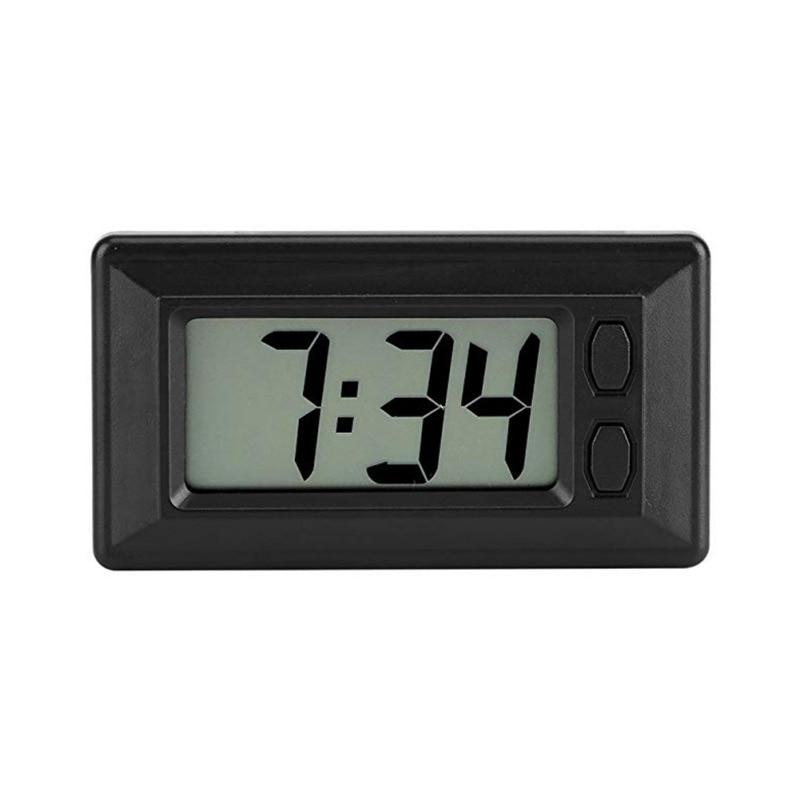 Car Clock Car LCD Screen Clock Electronic Watch Car Dashboard Large Digital Clock Time Self-Adhesive Bracket Car Accessories