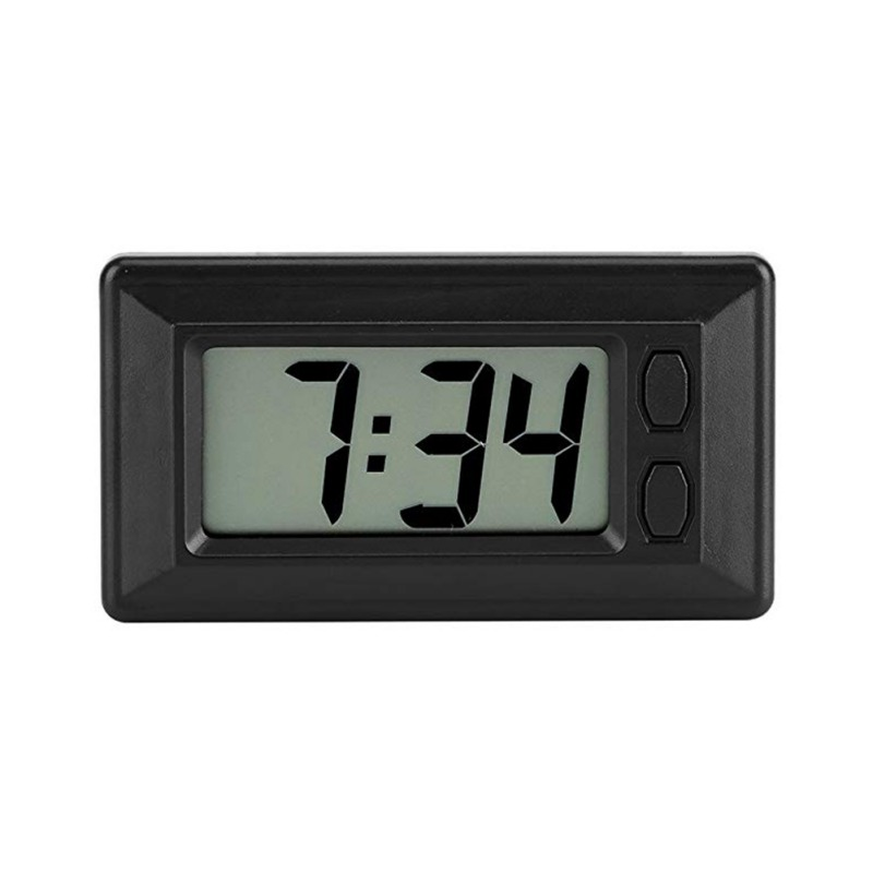 Car Clock Car LCD Screen Clock Electronic Watch Car Dashboard Large Digital Clock Time Self-Adhesive Bracket Car Accessories(China)