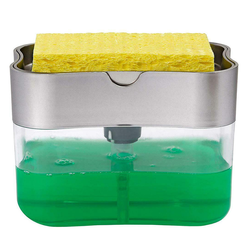 ABS Soap Dispenser Pump Toilet Washing Bathroom Hand Push Kitchen Home Sponge Holder Water Resistant Hotel Portable Dispenser