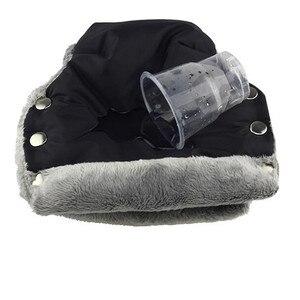 Image 3 - Baby Stroller Gloves Winter Warm Mittens Pram Handle Cover Child Hand Muff  Pushchair Hand Warmers Muffs Yoyo Yoya Accessories