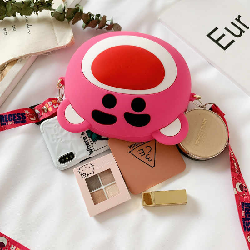 Bolsa de ombro coreana bolsas femininas de luxo bonito dos desenhos animados bolsas de grande capacidade
