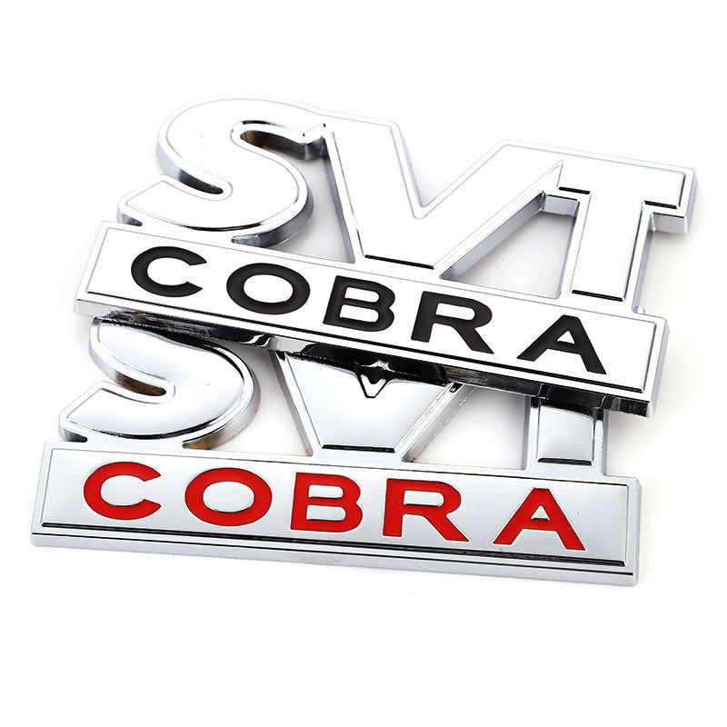 ملصق سيارة SVT كوبرا شعار شارة الجذع الخلفي لصائق الجبهة هود مصبغة لفورد موستانج شيلبي SVT كوبرا F150 F250 F350 GT فييستا