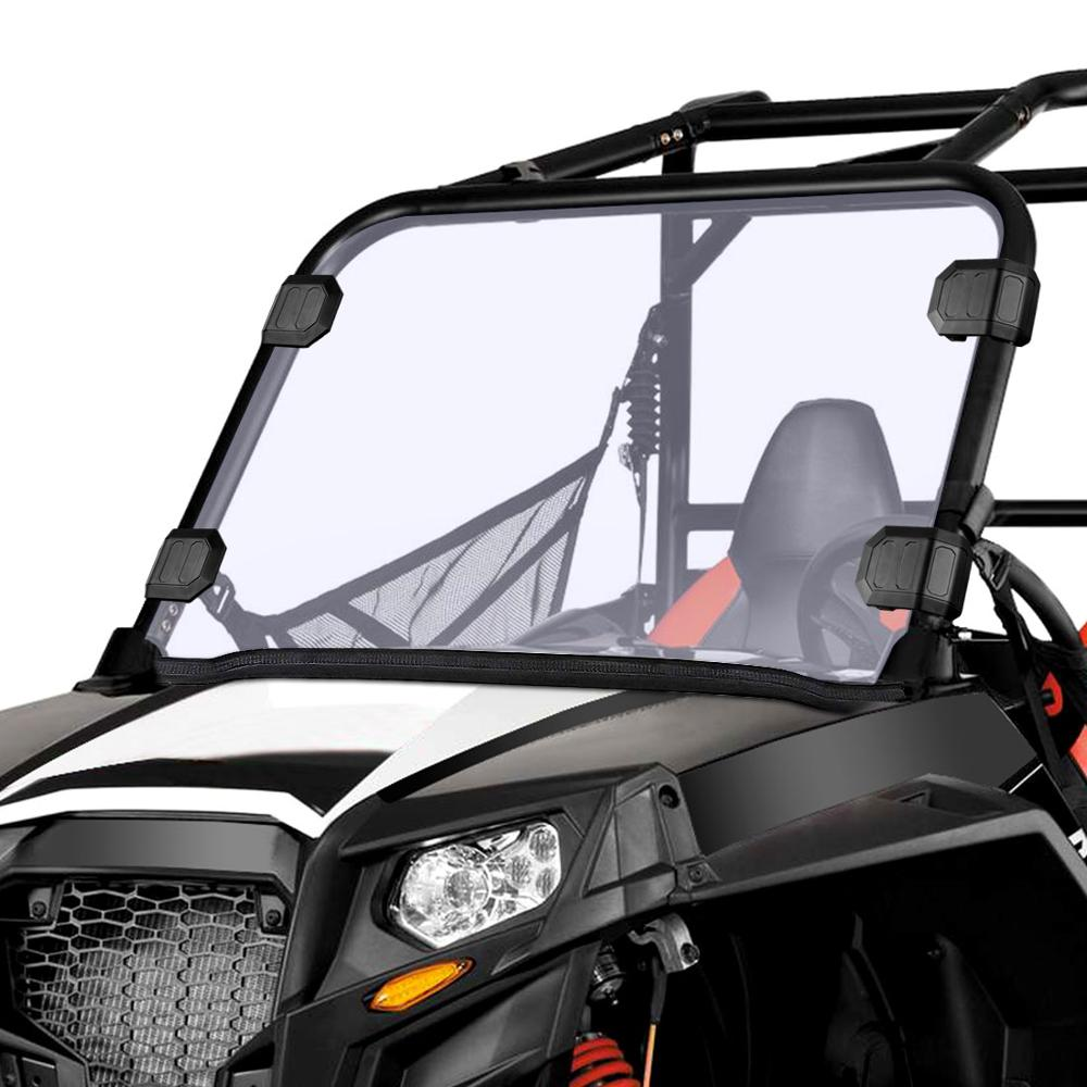 UTV Front Full Windshield Scratch Resistance Windscreen PC For Polaris RZR 570 Midsize 800 S 800 XP 900 & More Thick