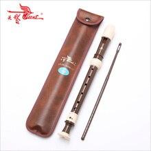 Лебедь рекордер барокко тройной восьмидырочный ABS флейта студенческий взрослый играть музыкальный инструмент прямая с фабрики