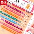 Выдвижная стираемая ручка M & G  6 цветов  0 38 мм  стираемые гелевые ручки с чернилами  цветные ручки  стирающие тепло  Исчезающие ручки для тепл...