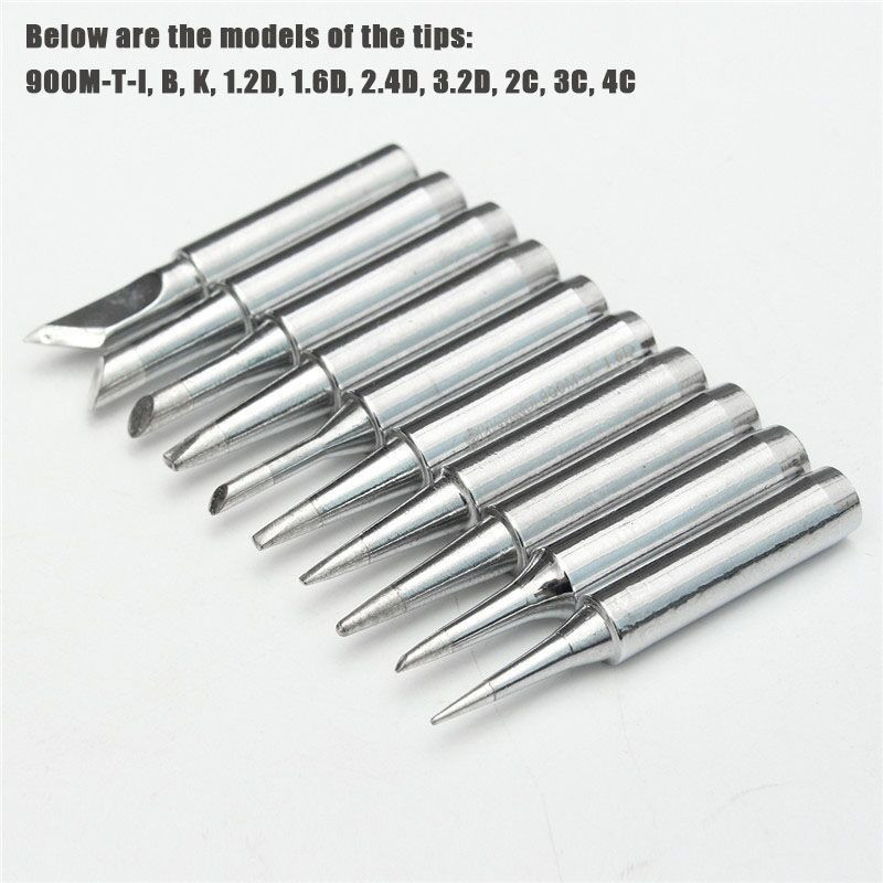 Lead-free Soldering Iron Tips Solder Tip 900M-T For Hakko 936 907 8586 898D 936d Lukey 852D Rework Soldering Station Tool Casing