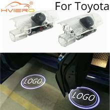 2Pcs Car Door Light Welcome Projection Lamp Laser for Toyota Camry Reiz Prado Crown Projector Accessories