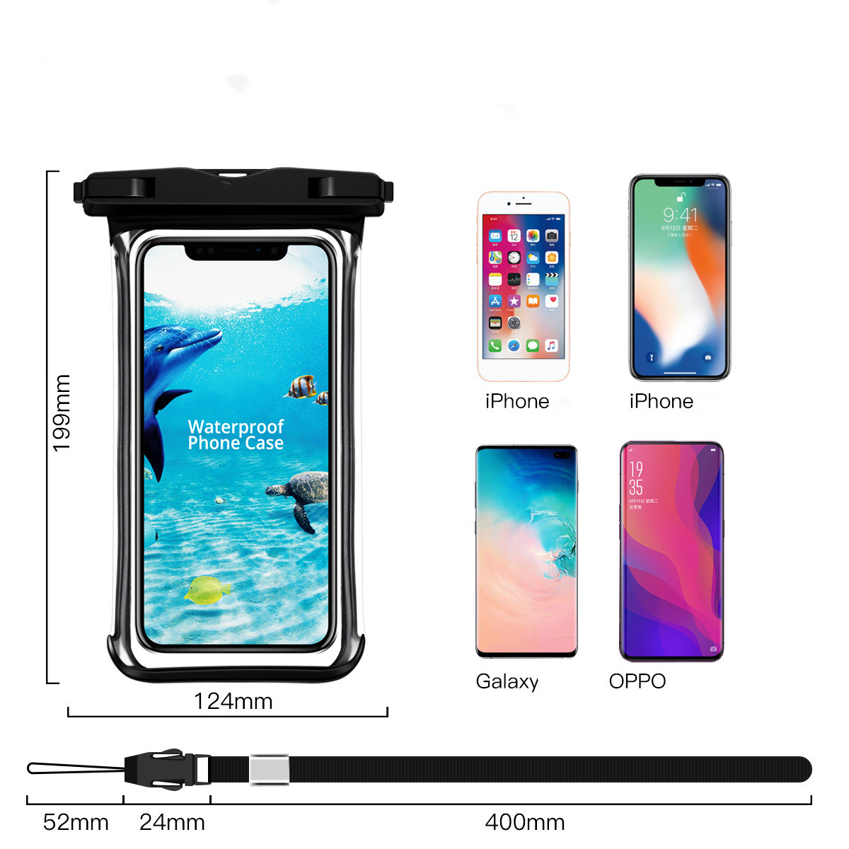 Hc39eb017b48046448c13140087f07948n - Full View Waterproof Swimming Pouch Case for Phone Underwater Snow Rainforest Transparent Dry Bag Big Mobile Phone Bag Sealed