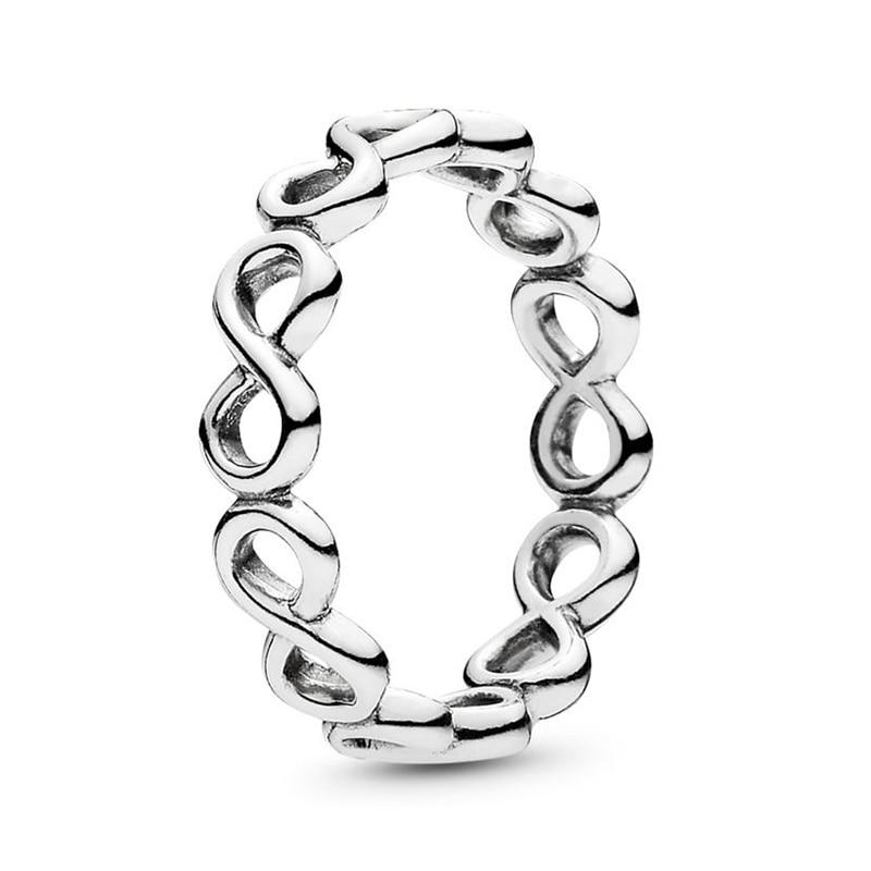 Горячая Распродажа серебряных колец с бантиком для женщин и девушек, сверкающий циркон, подходящие для тонких колец, свадебные ювелирные изделия, Прямая поставка - Цвет основного камня: N54