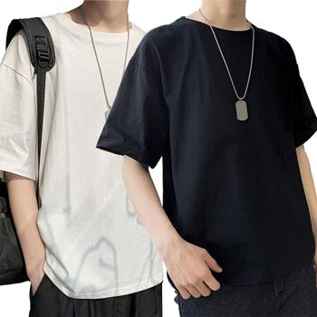All Match t shirts Men Top Solid Color O Neck Short Sleeve tshirt Men T-Shirt Loose Casual Men Tshir