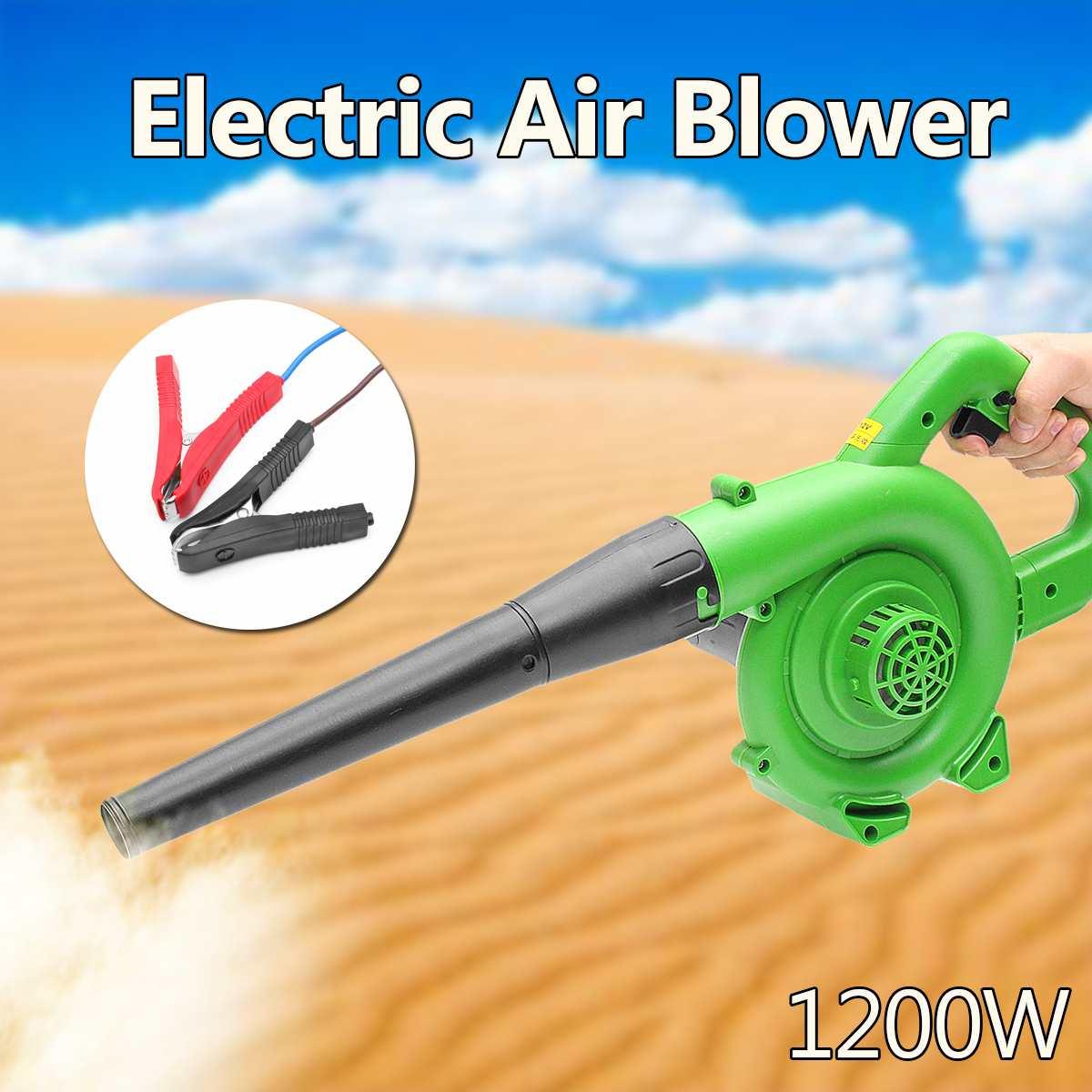 1200W électrique Portable électrique souffleur d'air souffleur tenu dans la main jardin feuille collecteur Air soufflant poussière feuille collecte Machine