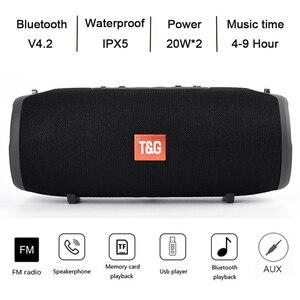 TG118 Bluetooth динамик бас беспроводная Портативная колонка сабвуфер Саундбар FM радио USB TF микрофон телефон ПК Двойной Динамик s водонепроницаемы...