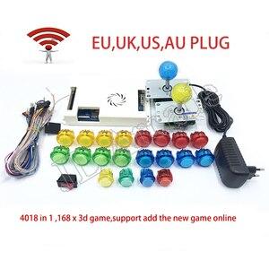 Kit de juego Pandora Box 3D 4018 con WiFi, Kit de Arcade DIY + copia de botones sanwa y Joystick, máquina de consola Arcade, paquete de armario de casa
