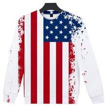 Повседневная одежда с американским флагом и 3d принтом модная