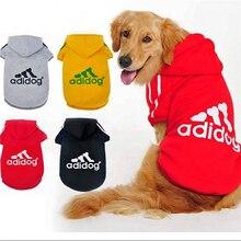 Повседневная Осенняя зимняя верхняя одежда с капюшоном Adidog Одежда для собак теплое пальто с капюшоном одежда куртка для собак модная одежда для собак пальто для домашних животных