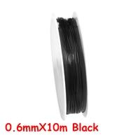 0.6mmX10m Black