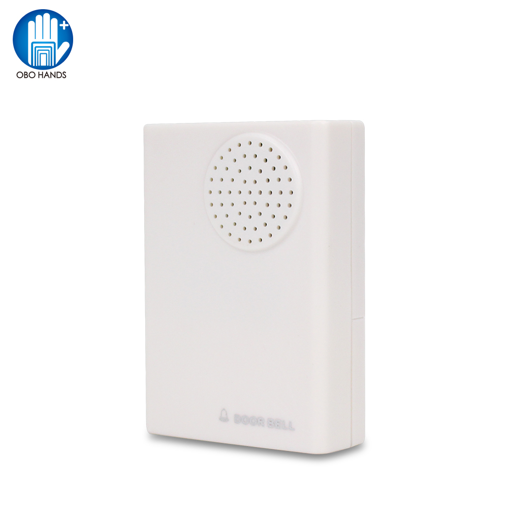 OBO Hands Wired Door Bell DC12V Door Ring For Access Control System Kit No Need Battery Dingdong Musical Chime ABS Plastic White