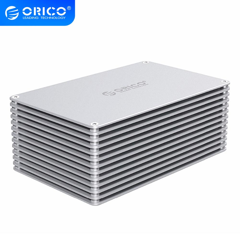 ORICO HDD Case USB3.0 DIY Hollow 2.5/3.5 Inch Hard Drive Enclosure Aluminum Alloy With 12V EU Power Supply Support 20TB Capacity