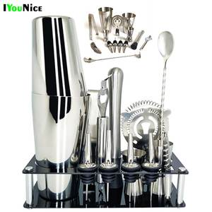 Bars-Set-Tools Browser-Kit Wine-Rack-Stand Cocktail-Shaker-Mixer Drink-Bartender Stainless-Steel