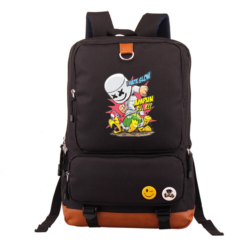 Marshmello Cotton Candy Electronic Music Backpack School Bag A Generation Of Fat Cross Border For Bulk Customizable