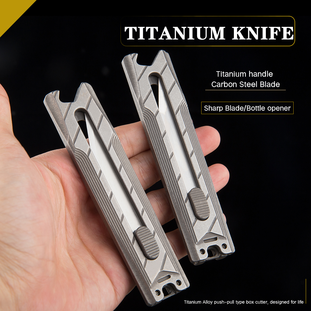 Titanium Alloy Telescopic Knife Multi-Function Bottle Opener Cutting Sharp Portable Tool Knife