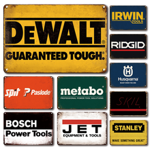 Vintage Garage Tools Room Decoration Metal Plate Retro Power Tool Tin Sign Workshop Club Decor Plaque Accessories Wall Signs