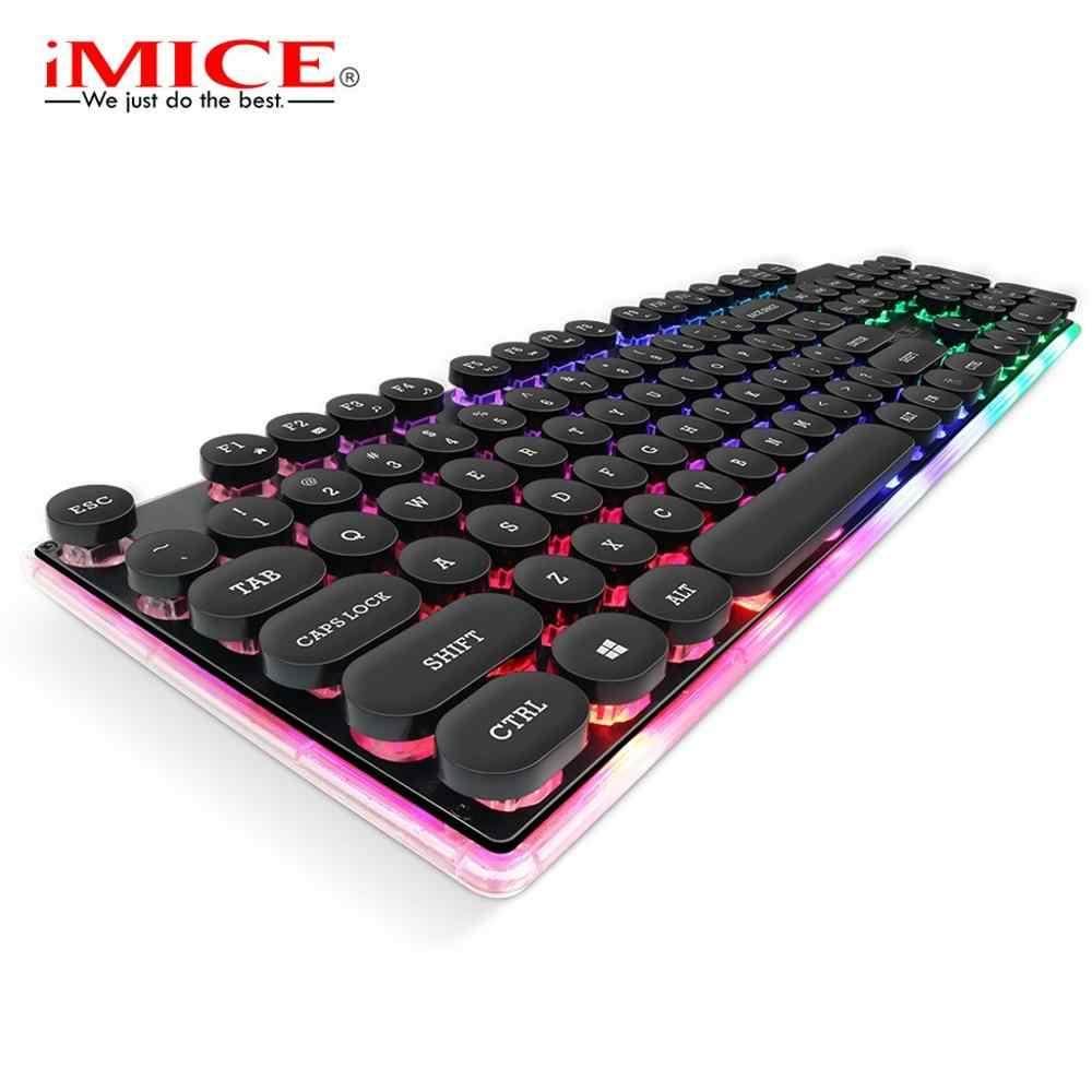 IMice AK-700 لعبة الخلفية الألعاب لوحة المفاتيح مع الخلفية RGB ألعاب للكمبيوتر الكمبيوتر المحمول LED أغطية المفاتيح لوحة المفاتيح USB Keybord