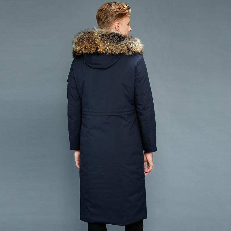Real Rabbit Fur Coat Winter Men Goose Down Jacket Warm Parkas Plus Size Jackets Casaco 1208-1 YY1029