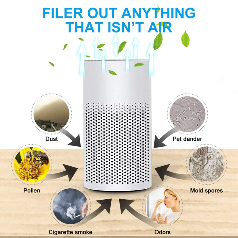 USB Charging 3 In 1 Negative Ion Mini Air Purifier With Filter Portable Quiet Personal Desktop Ionizer Air Cleaner For Home
