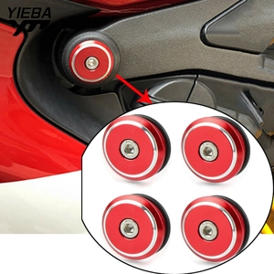 Motorcycle Aluminum Frame Plugs Cap Decorat Frame Hole Cover For Ducati 899 959 1199 1299 Panigale / S Panigale V4 S Accessories