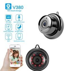 HD Wifi мини камера Secret Smart Auto IR-Cut видео датчик движения секретная видео камера ночное видение Обнаружение движения P2P камера V380