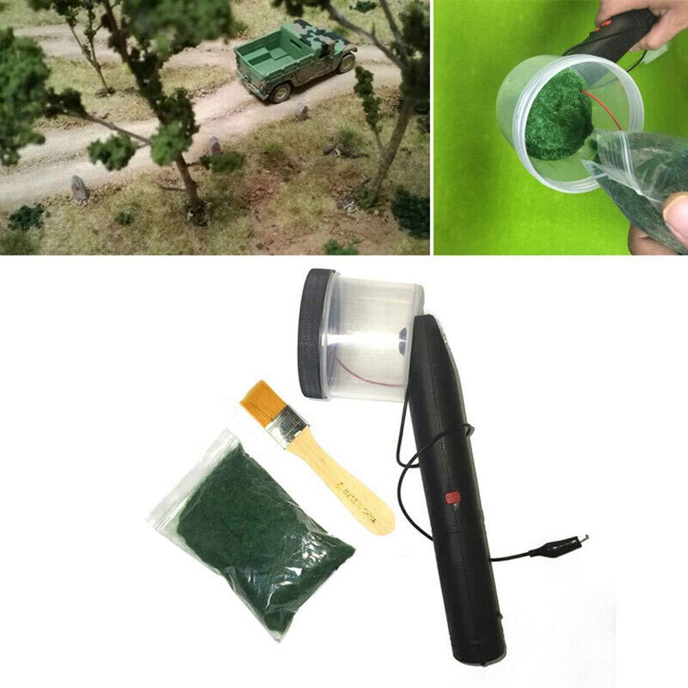 Machine de flocage statique portative tenue dans la main d'herbe, applicateur de flocage pour la modélisation scénique