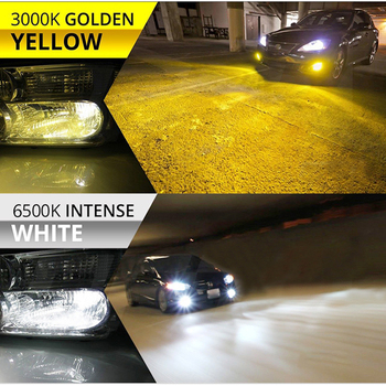 цена на BraveWay 3000K+6500K White+Yellow H11 Led Headlight Bulbs Car H8 H9 H11 9005 HB3 9006 HB4 H7 H3 LED Fog Light Bulb LED Auto Lamp