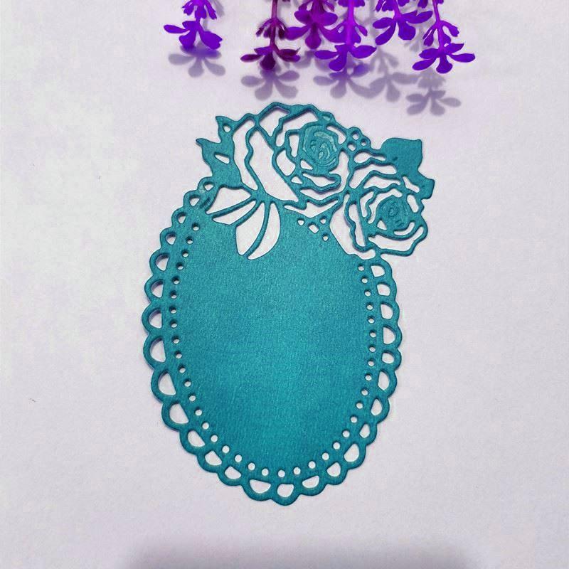Mirror, rose background Metal Cutting Dies for DIY Scrapbooking Album Paper Cards Decorative Crafts Embossing Die Cuts