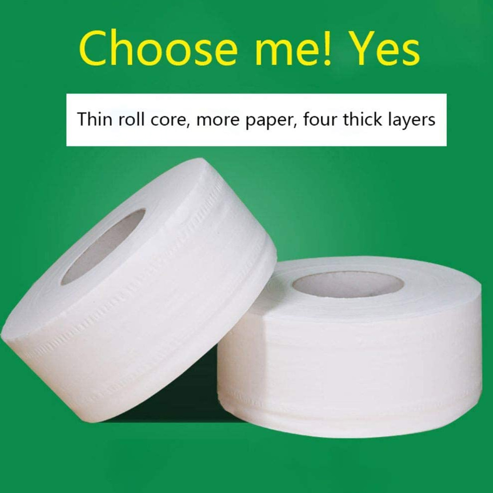 1 Roll Large Toilet Paper Roll Bathroom Bath Home Hotel Paper Towels Soft White 4-Ply New TT@88
