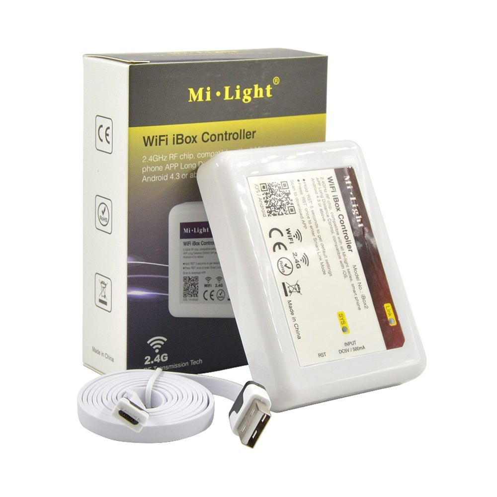 Mi.light Wifi IBox2 Controller DC5V Compatible With IOS/Andriod System Wireless APP Control For CW WW RGB Strip Bulb