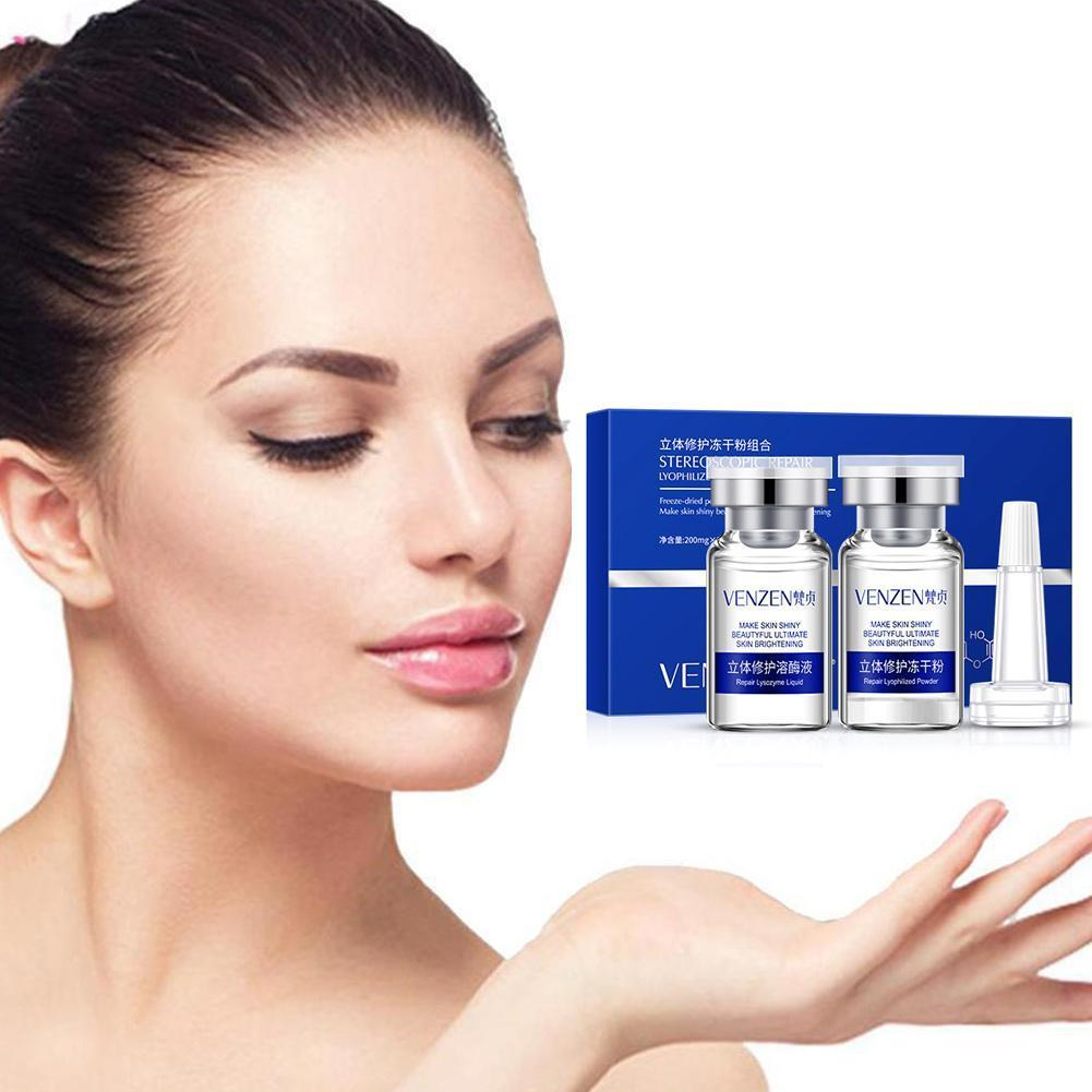 Repair Freeze Dried Powder Moisturizing Shrink Pores Skin Care Serum Face Lifting Product Repairing Treatment Anti Aging Fi N8V3