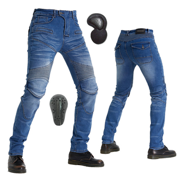 цена на Komine MOTORPOOL Protect Equipment Gears Jeans Leisure Summer Motorcycle Men's Off-road Outdoor Jean cycling Pants Blue Black