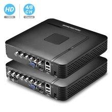 BESDER AHD 1080N 4CH 8CHกล้องวงจรปิดAHD DVR Mini DVRสำหรับชุดกล้องวงจรปิดVGA HDMIระบบNVRสำหรับกล้องIP Onvif DVR PTZ H.264