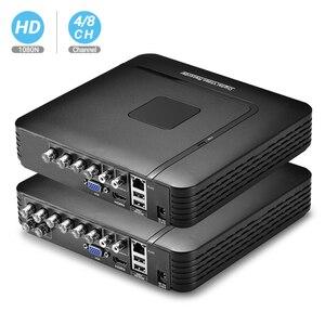 Image 1 - BESDER AHD 1080N 4CH 8CH CCTV AHD DVR 미니 DVR CCTV 키트 VGA HDMI 보안 시스템 미니 NVR IP 카메라 Onvif DVR PTZ H.264