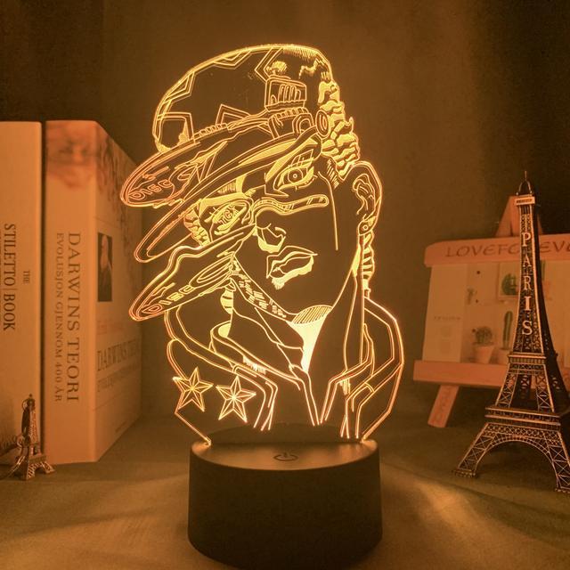 16 COLOR WITH REMOTE JOJO BIZARRE 3D LED LAMP
