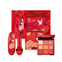 makeup kit Chinese Traditional Chic Dynasty Red Lipstick+Eyeshadow Palette Makeup Gift Set for Wowen Shimmer Eye Shadow set new