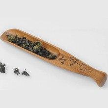 1 шт. чайная церемония натуральный для китайского чая кунг-фу ложка бамбуковая Рыба Форма чайная лопатка чайная посуда