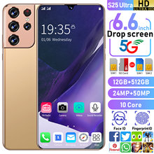 New Global Version S25 Ultra 6.6Inch SmartPhone 10 Core 6000mAh 12+512GB 5G Network Mobilephone Support Fingerprint Unlock