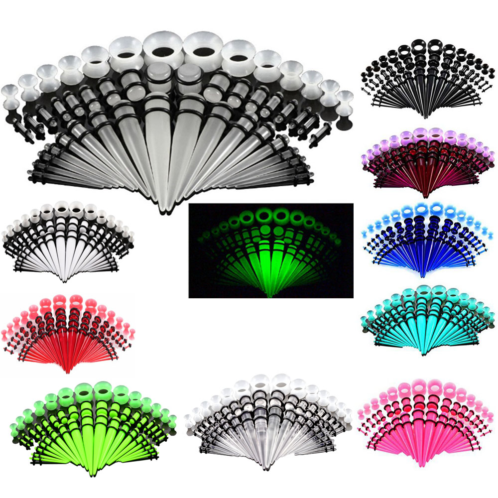 Акриловые серьги для пирсинга, ювелирное изделие для прокола ушей, тела, разные цвета