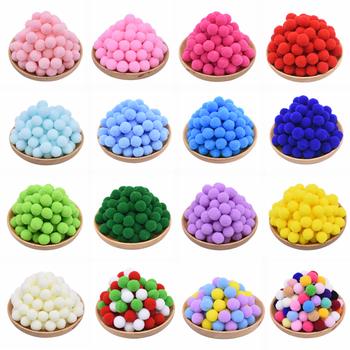 100 sztuk 15 20 25mm puszyste miękkie pompony Handmade dzieci zabawki dekoracje ślubne DIY pompony czuł piłka krawiectwo dostaw 8z tanie i dobre opinie CN (pochodzenie) Tak ( 50 sztuk) ZYA23638ball